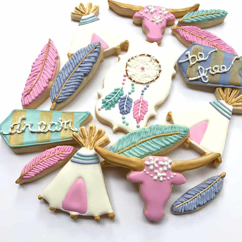 How To Make These Cute Boho Bohemian Cookies Bespoke