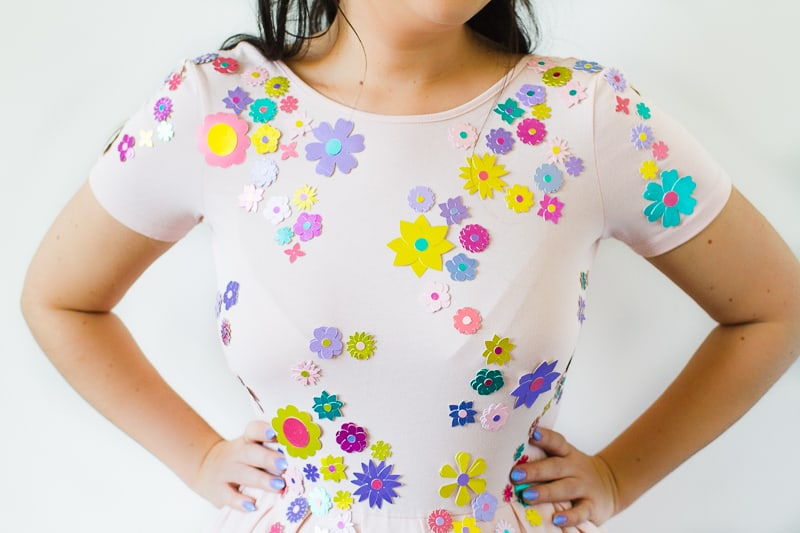diy-embellished-dress-make-your-own-wedding-bridesmaid-dress-cricut-brooch-jewels-floral-flower-summer-fashioin-tutorial-8