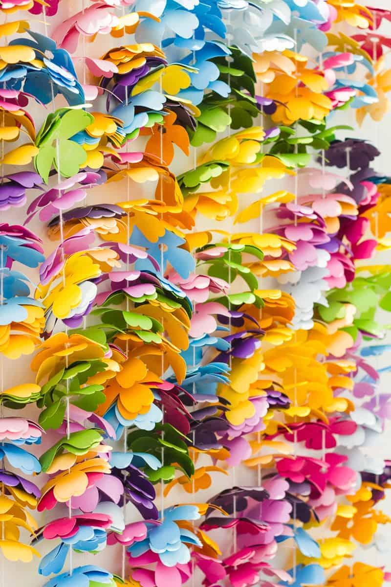 diy-floral-flower-backdrop-bright-colourful-altar-photobooth-cascading-modern-fun-wedding-7