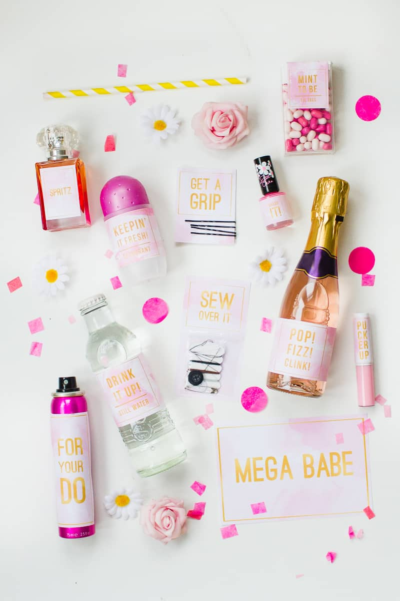Diy Emergency Wedding Kit With Fun Free Printable Labels