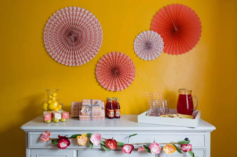 fun-colourful-yellow-coral-peach-wedding-and-bridal-shower-ideas-2