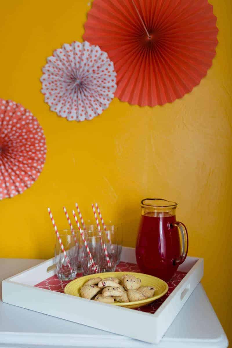 fun colourful yellow coral peach wedding and bridal shower ideas 3