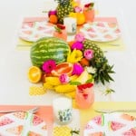 6 WAYS TO GET THE PARTY STARTED WITH THIS TROPICAL BRIDAL SHOWER STYLING