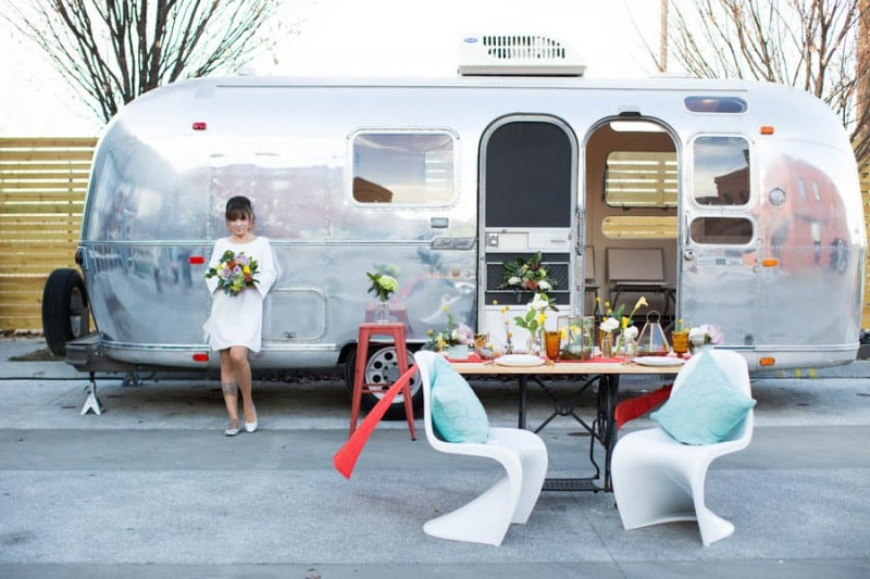 Airstream Caravan Unique Alternative Wedding Transportation Car Ideas