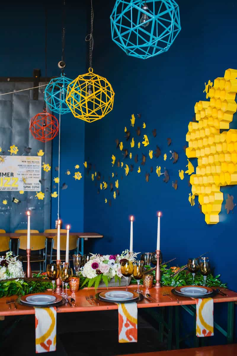 bee-themed-wedding-ideas-in-a-brewery-6