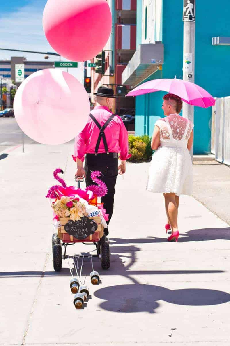 walking-unique-wedding-transportation-ideas