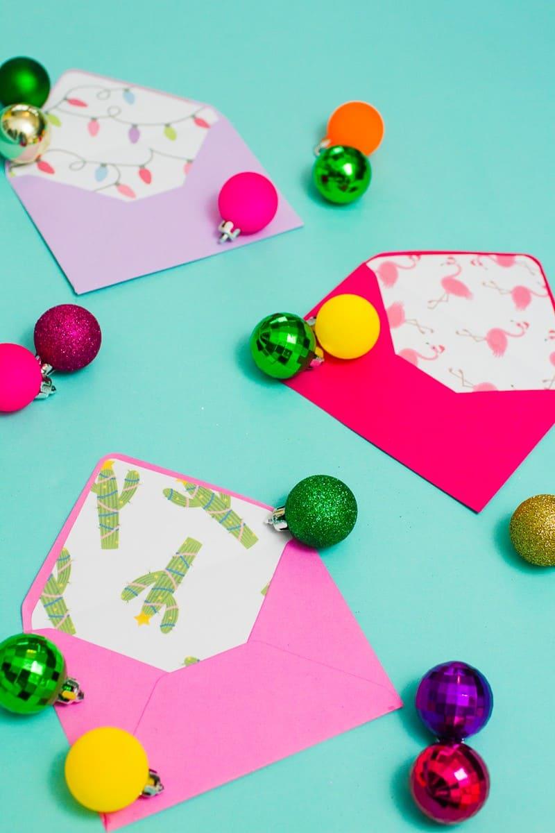christmas-envelope-liners-free-printable-download-festive-flamingo-cactus-lights-pink-fun-11