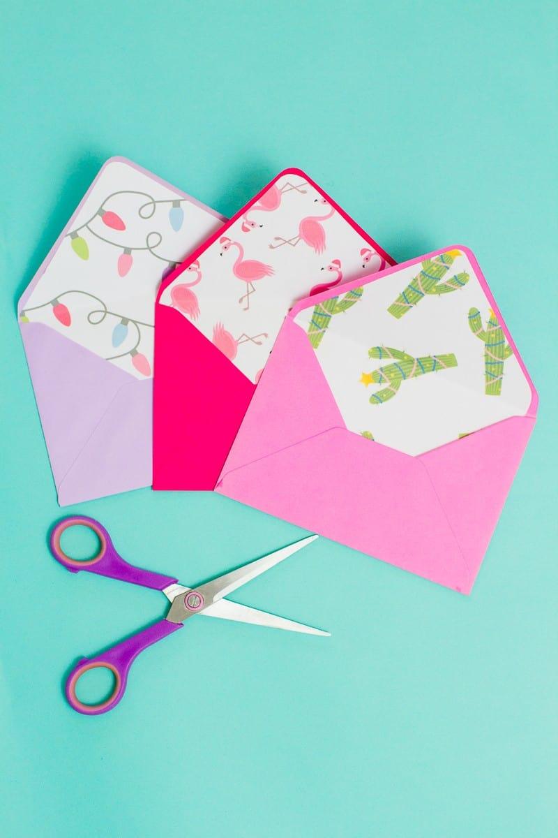 christmas-envelope-liners-free-printable-download-festive-flamingo-cactus-lights-pink-fun-5