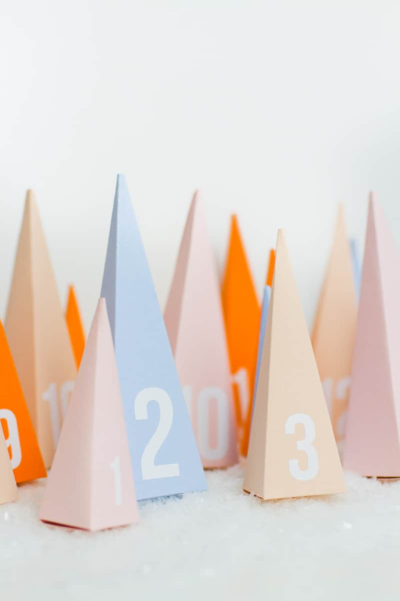 Christmas Calendar Chocolate : Diy pastel christmas tree advent calendar bespoke bride