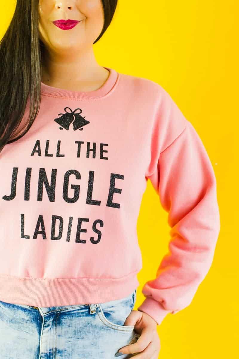 diy-slogan-graphic-christmas-jumper-diy-iron-on-all-the-jingle-ladies-cricut-pink-black-glitter-4