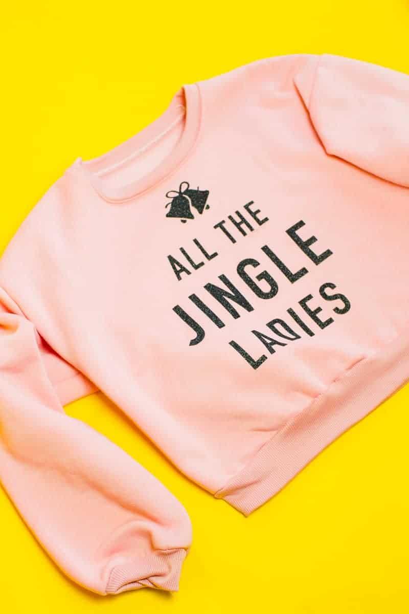 diy-slogan-graphic-christmas-jumper-diy-iron-on-all-the-jingle-ladies-cricut-pink-black-glitter-5