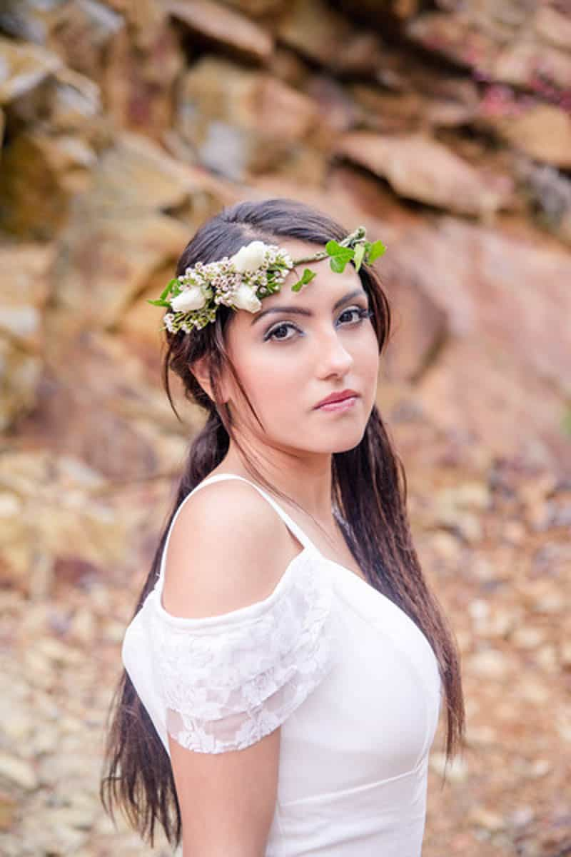 Edgy Modern Bohemian Native American Themed Wedding Ideas In The