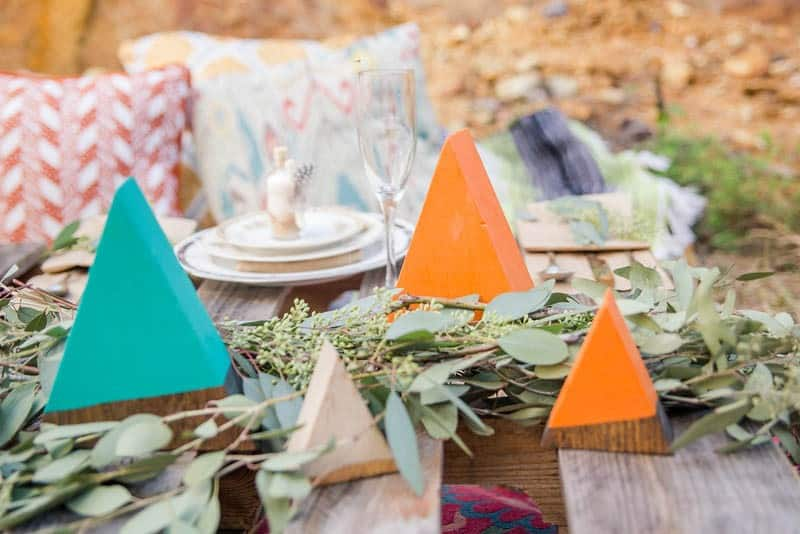 Edgy Modern Bohemian Native American Themed Wedding Ideas