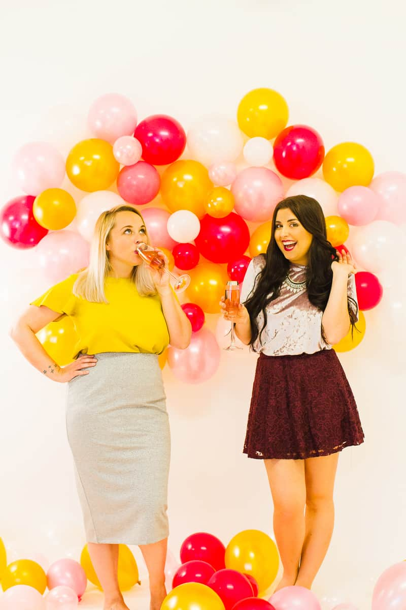 Diy Balloon Wall Backdrop For Your Nye Party Bespoke Bride