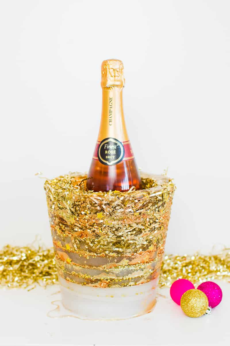 diy-glitter-ice-bucket-christmas-gold-metallic-confetti-bronze-copper-centrepiece-wine-cooler-champagne-11
