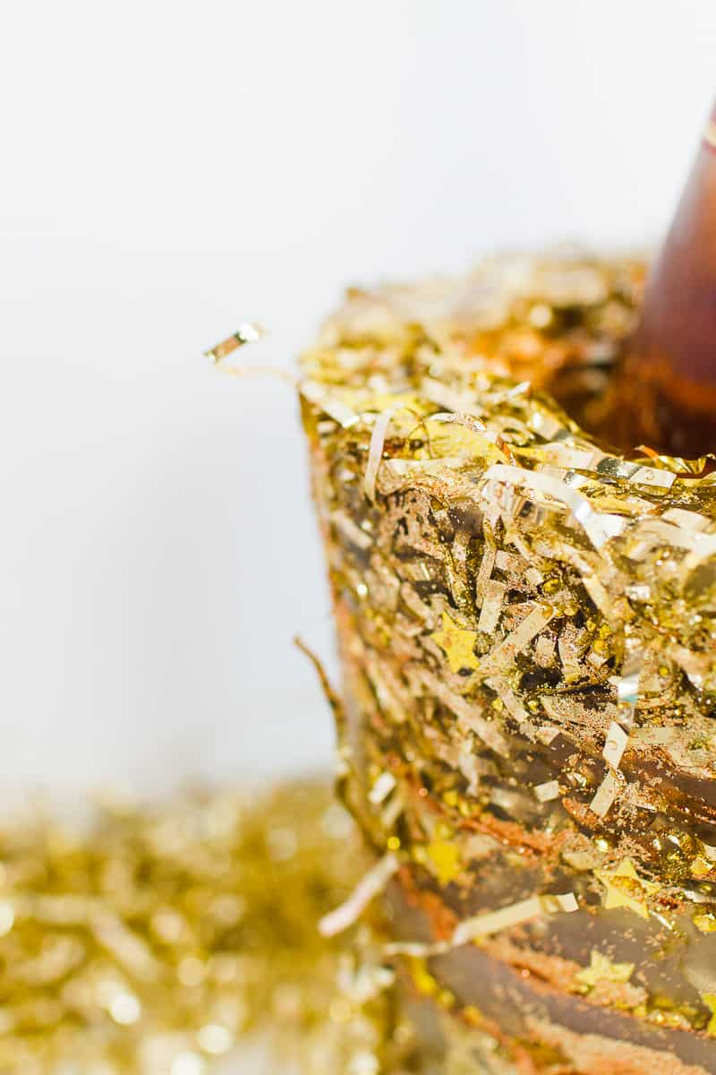 diy-glitter-ice-bucket-christmas-gold-metallic-confetti-bronze-copper-centrepiece-wine-cooler-champagne-5