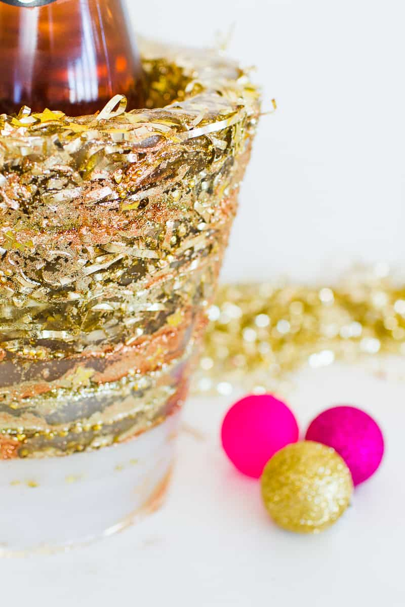 diy-glitter-ice-bucket-christmas-gold-metallic-confetti-bronze-copper-centrepiece-wine-cooler-champagne-9