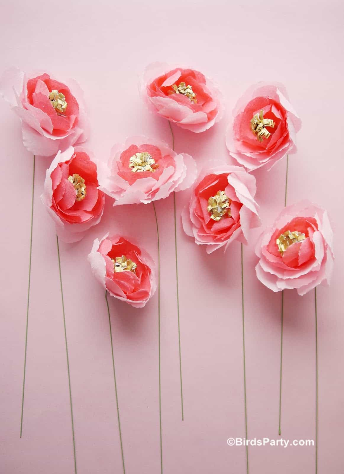 Best Paper Flower Tutorials For Your Wedding Easy Crepe Paper