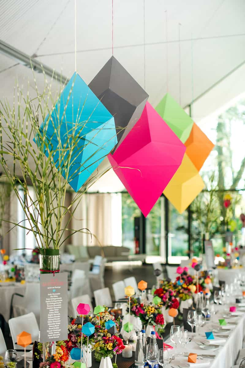 This Colorful Geometric Wedding Might Already Be Our Fave For 2017