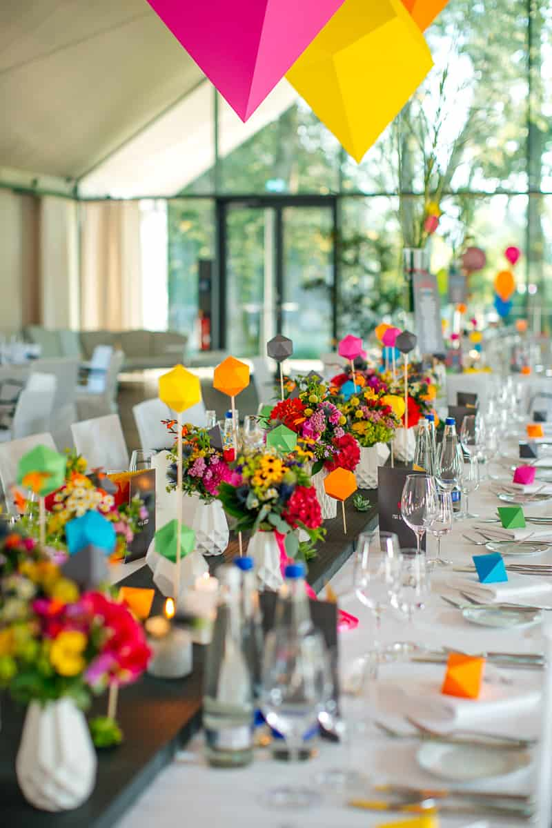 Colorful Geometric Flamingo Themed Wedding In Bavaria 18