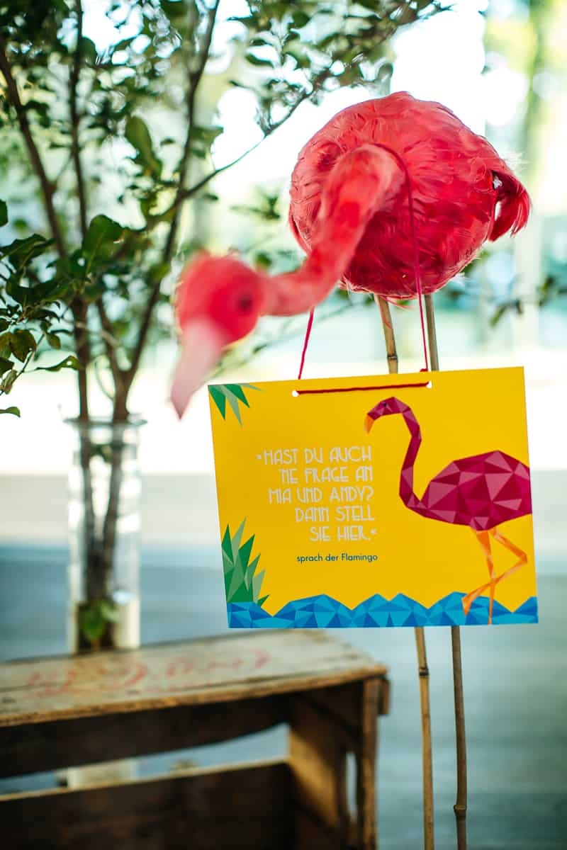 Colorful Geometric Flamingo Themed Wedding In Bavaria 24