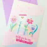FREE PRINTABLE BE MY BRIDESMAID CARD (AKA THE CUTEST CARD EVER)