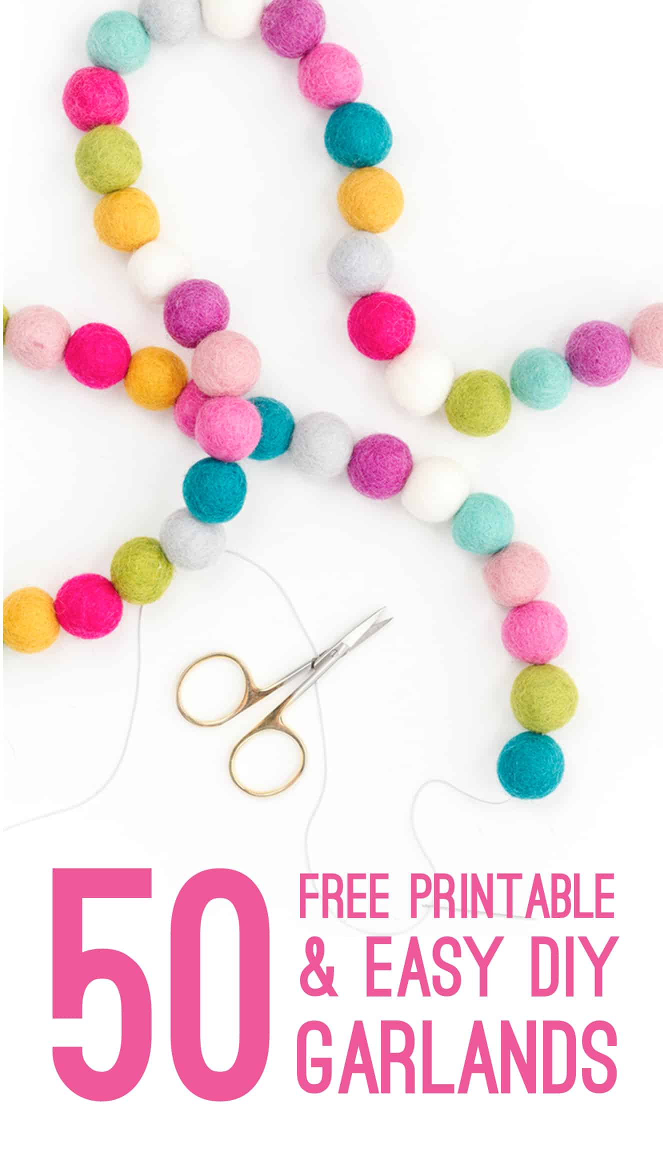 graphic relating to Free Printable Banners identify 50 Totally free PRINTABLE GARLANDS AND Do-it-yourself BANNERS Your self Need to have FOR YOUR