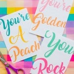 5 FUN FREE PRINTABLE THANK YOU CARDS