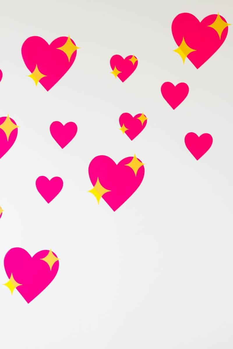Temporary Emoji Heart Backdrop Bespoke Bride Wedding Blog