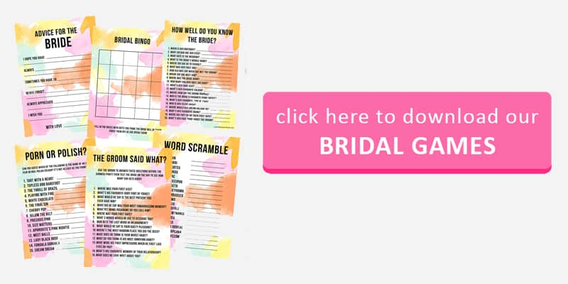 Bridal Game Button