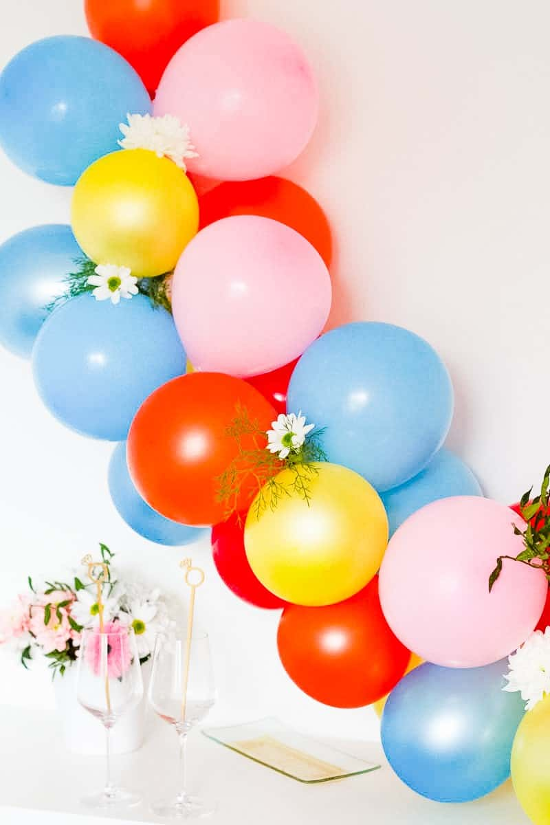 DIY Balloon Backdrop Arch Colourful Fun-5