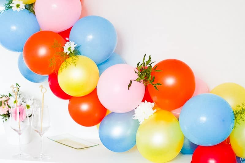 DIY Balloon Backdrop Arch Colourful Fun-6