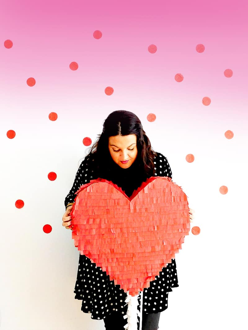 DIY Heart Lollipop Piñata for Valentines Day party fun pinata tutorial-10