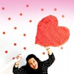 MAKE THIS CUTE DIY HEART LOLLIPOP PIÑATA