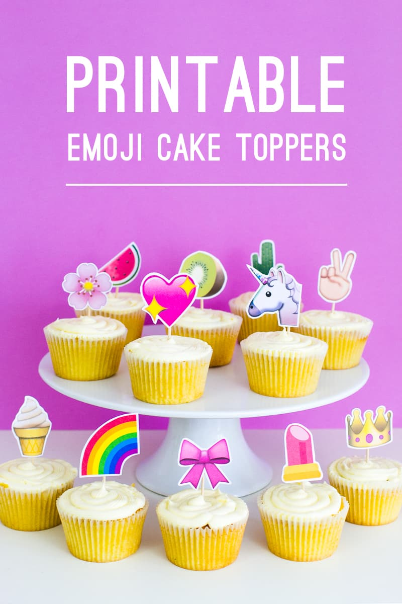 Printable Emoji Cupcake Toppers For A Fun Unique Cake