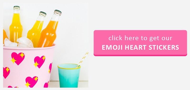 Emoji Heart Stickers Button