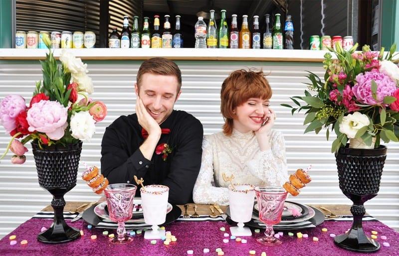 PINK, BLACK & WHITE VALENTINES DAY WEDDING IDEAS IN MUNCH FOOD PARK (6)