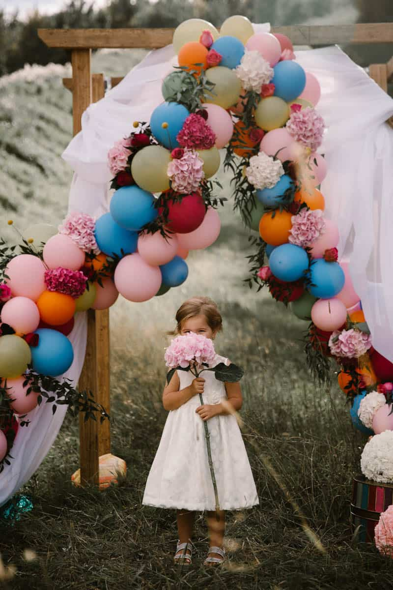 Balloon arch for wedding -  Playful Romantic Katy Perry Inspired Wedding With Colorful Balloon Arch 2