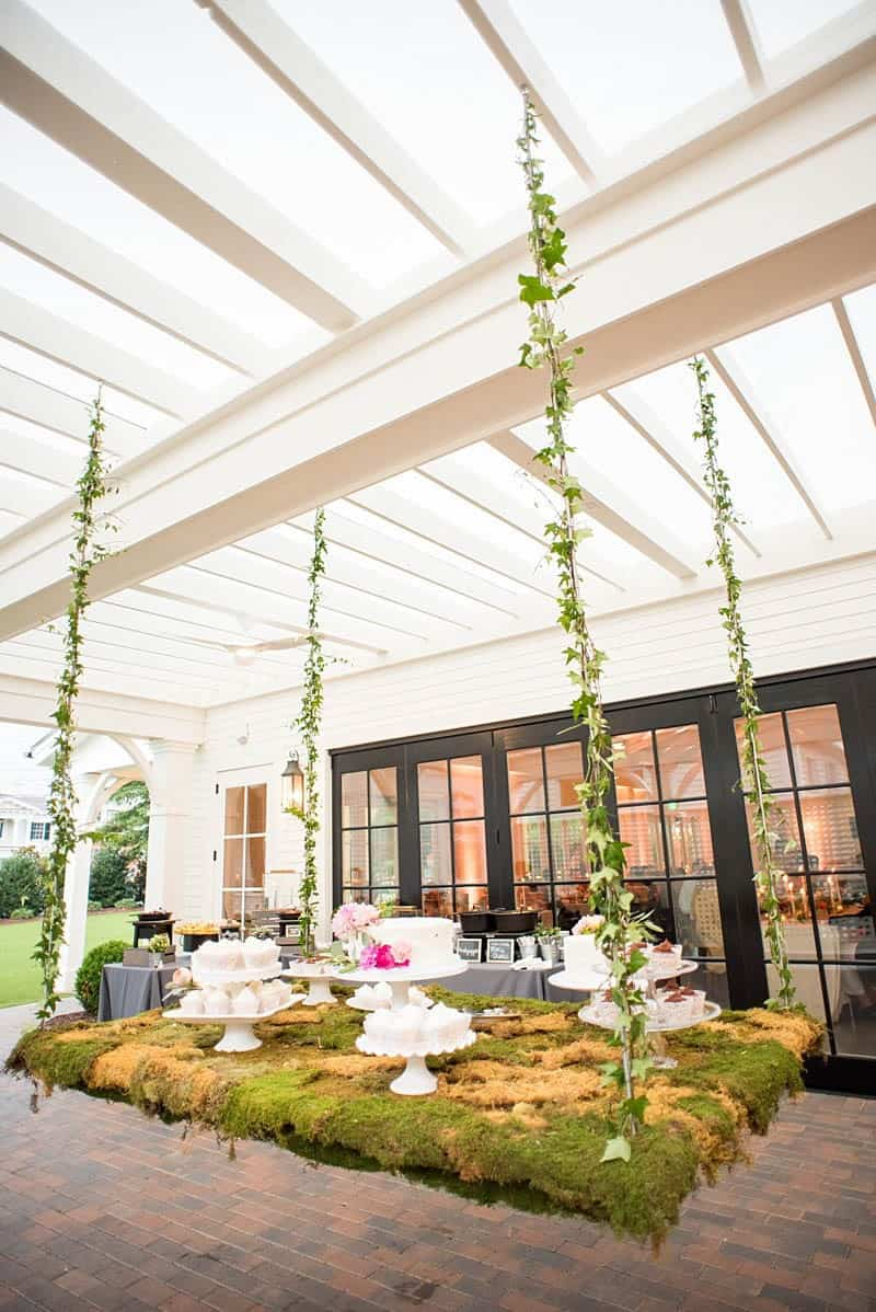 STYLISH FLORAL & FOLIAGE MERRIMON WYNNE HOUSE WEDDING (25)