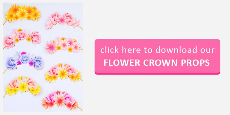 Flower Crown Props Button