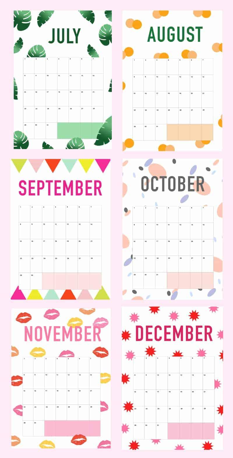 Printable DIY Wedding Planner Organiser Calendar 2