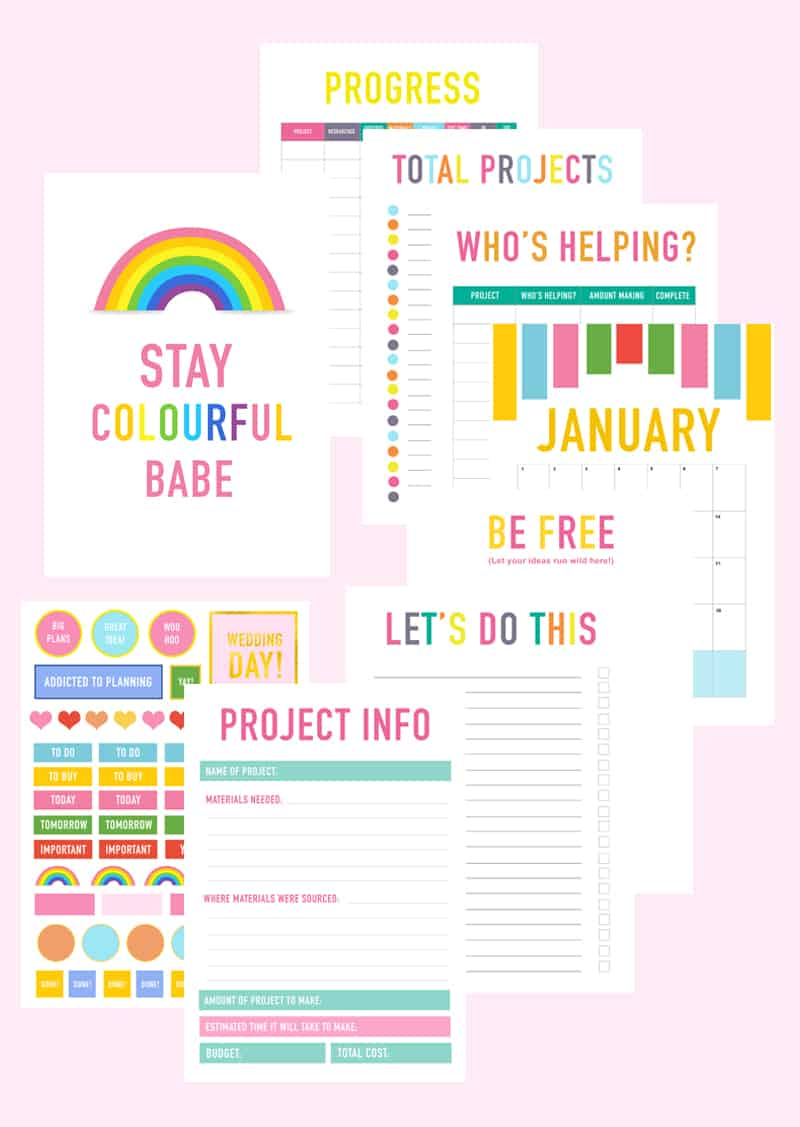 Printable DIY Wedding Planner Organiser fun