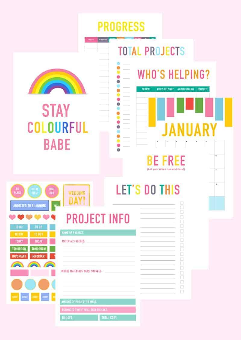 Printable DIY Wedding Planner Organiser fun