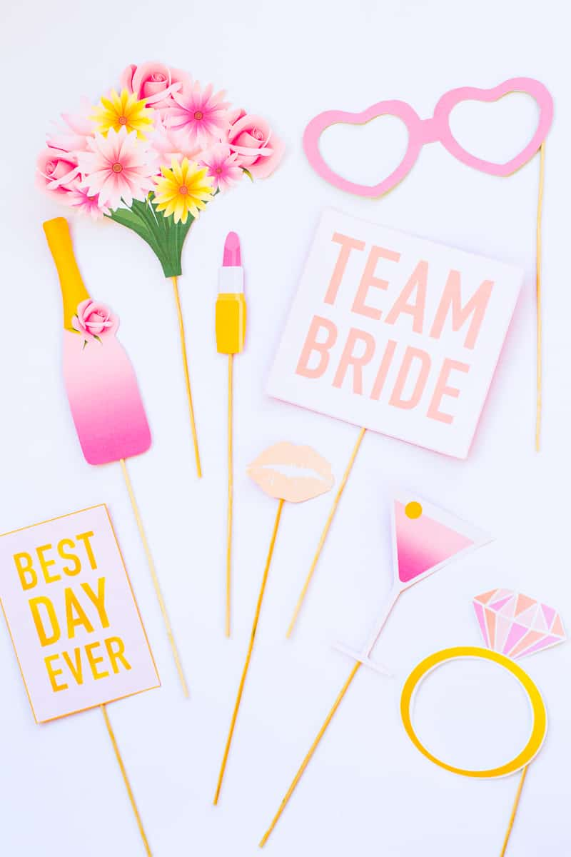 Printable Bridal Shower Photo Booth Props Amp Hen Party Bachelorette Modern Printables Bespoke