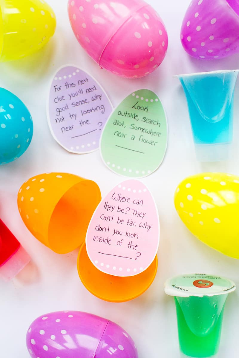 Adult Easter Egg Hunt Boozy Shots DIY Free Printable Clues Fun Easter Party Games Ideas Alchohol Shooters-21