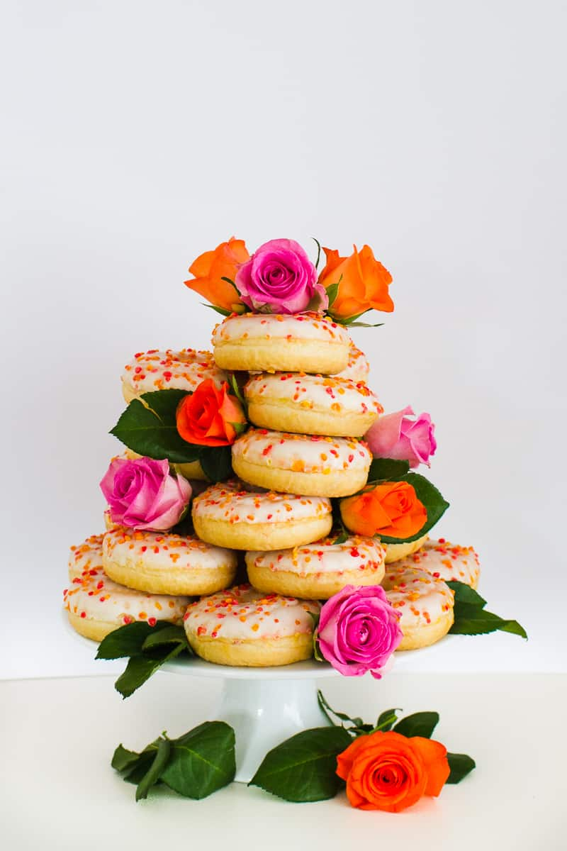 Donut Wedding Cake DIY How to make your own cheap wedding cake doughnuts wedding cake trend-19
