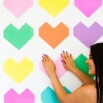 MAKE THIS FUN AND SUPER EASY GEOMETRIC HEART BACKDROP!