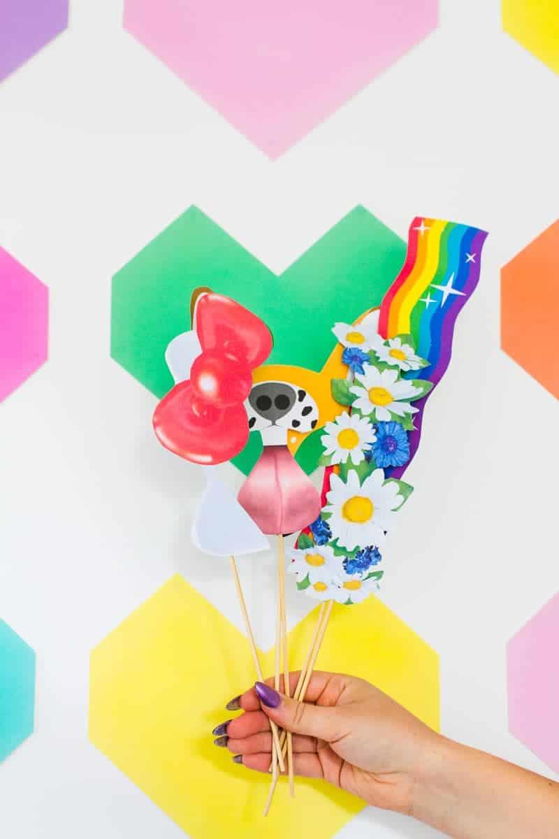 Easy DIY Backdrop Altar Paper Colourful Fun Geometric Heart Tutorial-5