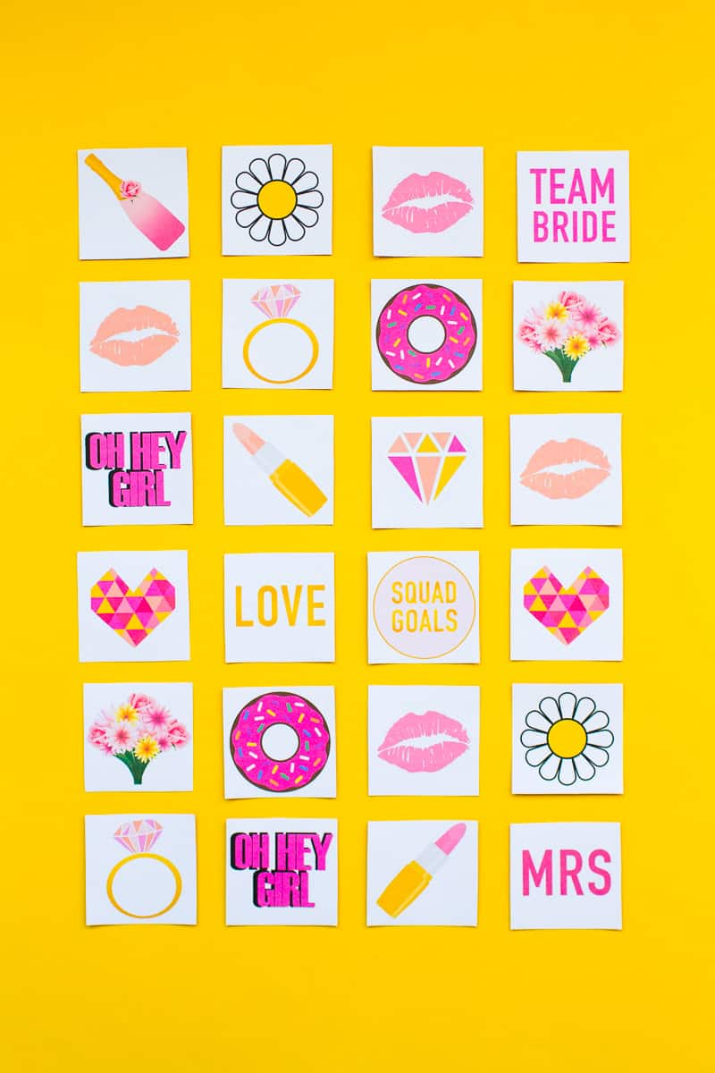 Free Printable Memory Game Bridal shower Bachelorette fun easy girlie pink download-1