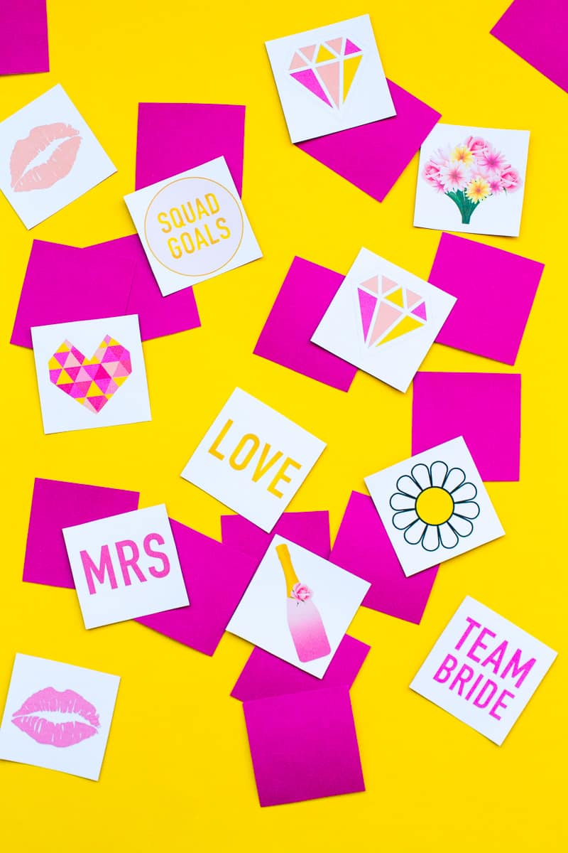 Free Printable Memory Game Bridal shower Bachelorette fun easy girlie pink download-5